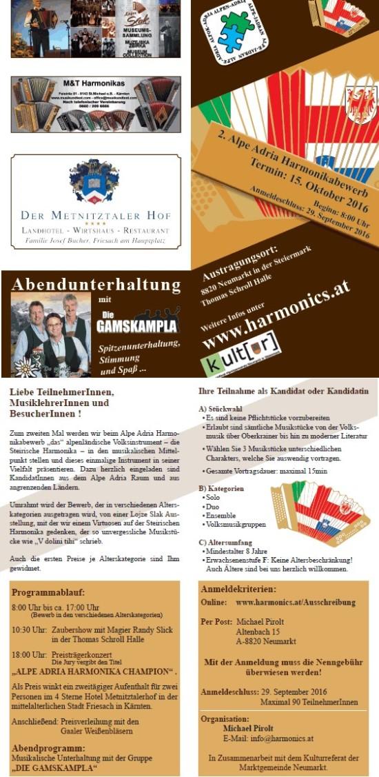 2. Alpe Adria Harmonikabewerb - Österreich