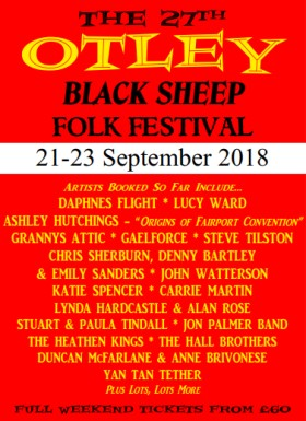 Poster - Black Sheep Otley Folk Festival