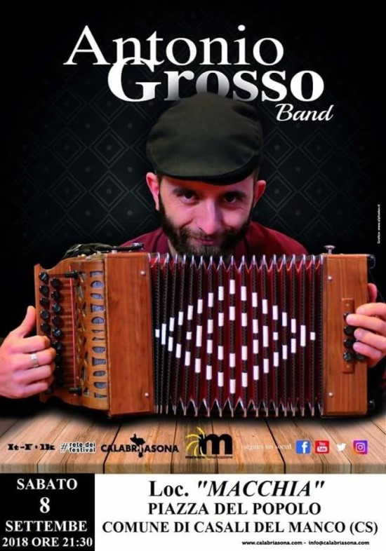 Antonio Grosso Band in Casali del Manco (CS) - Italia