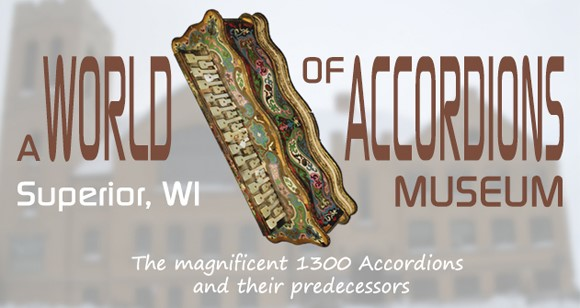 A World of Accordions Museum header